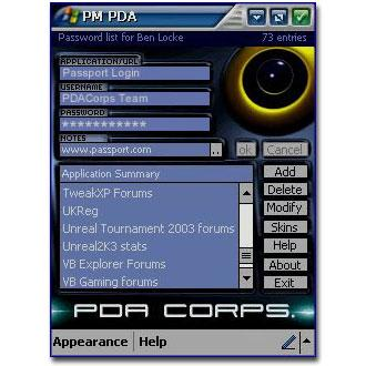 Password Manager PDA Edition