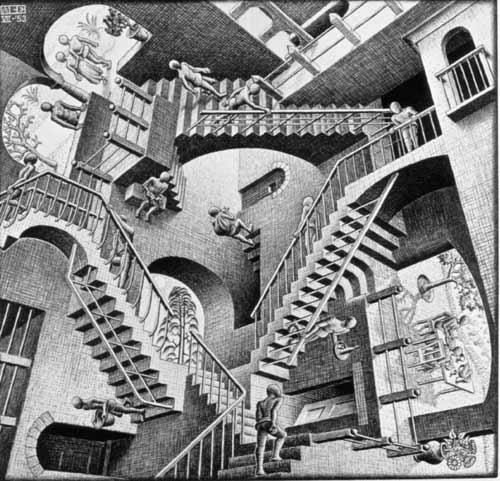 Wallpaper Eschers Relativität