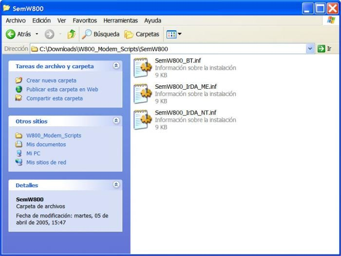 Modem Scripts para W800