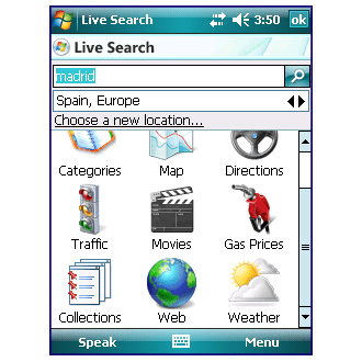 Live Search Mobile