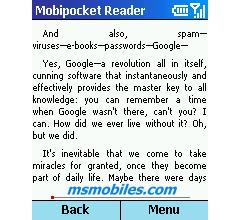 Browse to Mobipocket Reader