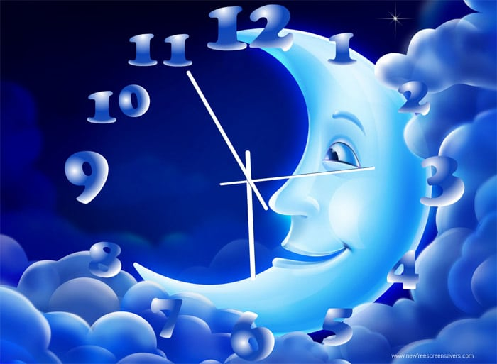 NewFreeScreensaver Moon Clock 15