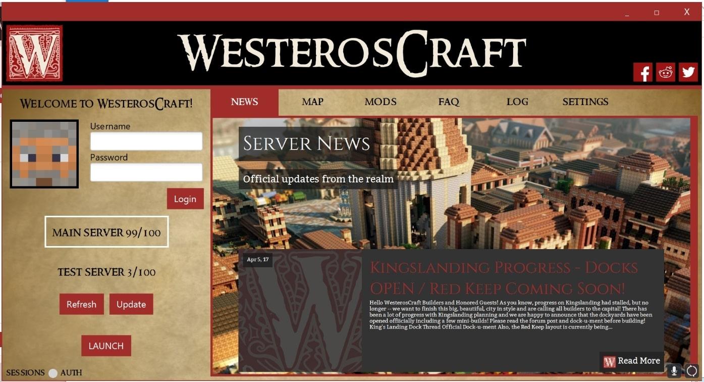 WesterosCraft Launcher