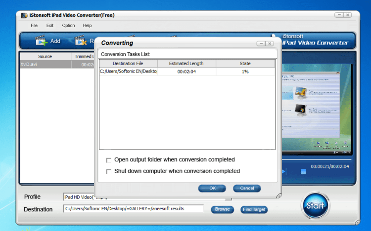 iStonsoft Free iPad Video Converter