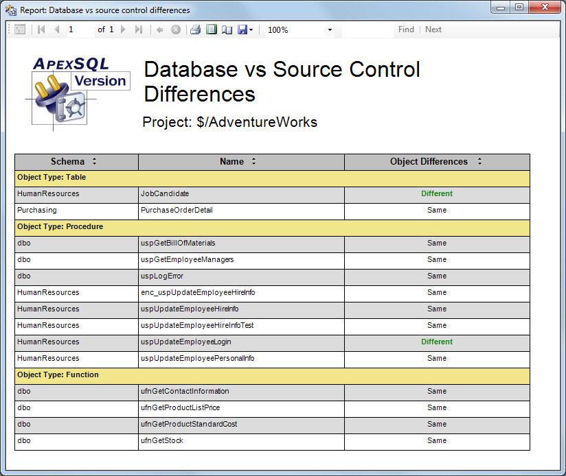 ApexSQL Version