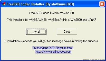 FreeDVD Codec Installer