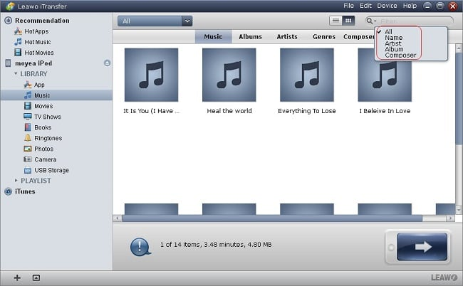 Leawo iPod touch Transfer
