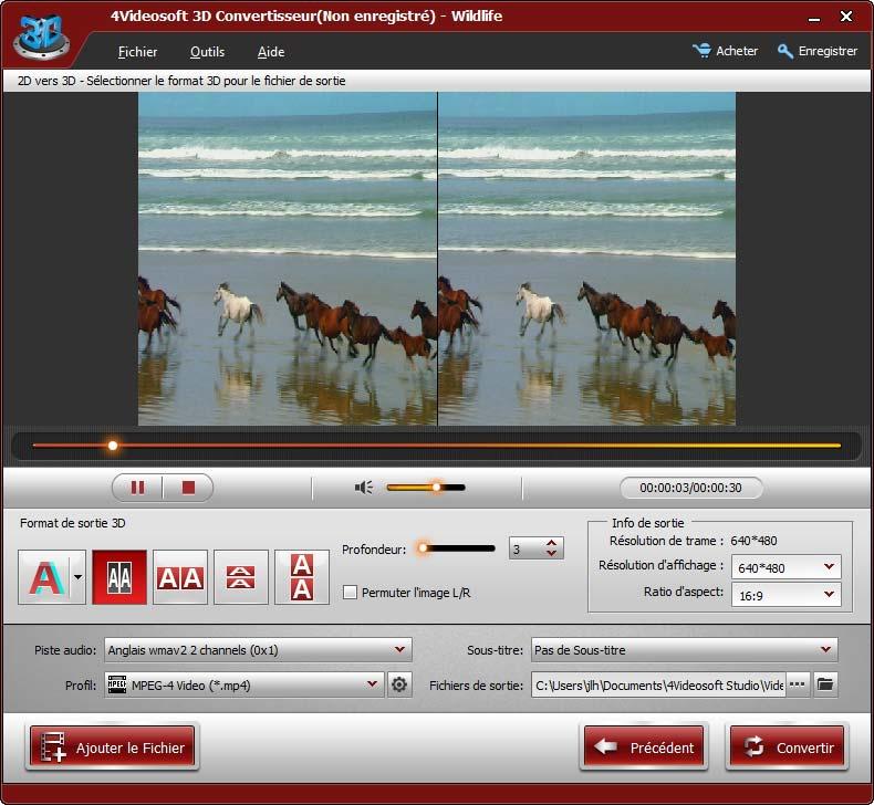 4Videosoft 3D Convertisseur