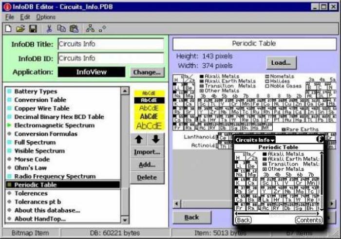 InfoDB Tools