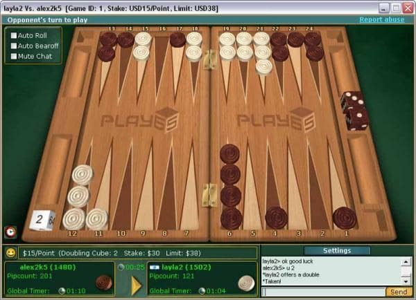 Online Backgammon Tournament