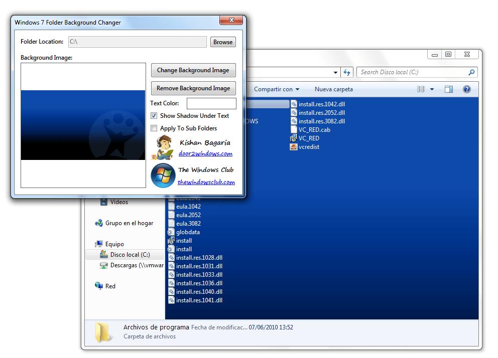 Windows 7 folder background changer windows download - Windows 7 wallpaper changer software ...