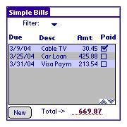 Simple Bills