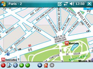 Rough Guide Map Paris