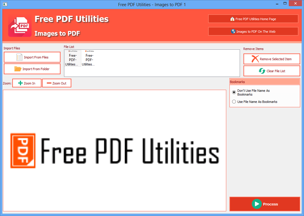 Free PDF Utilities - Images to PDF