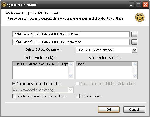 Quick AVI Creator