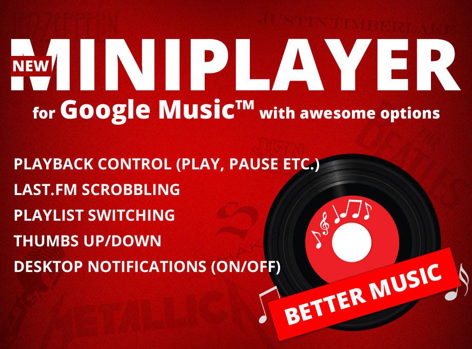 Better Music for Google Play Music