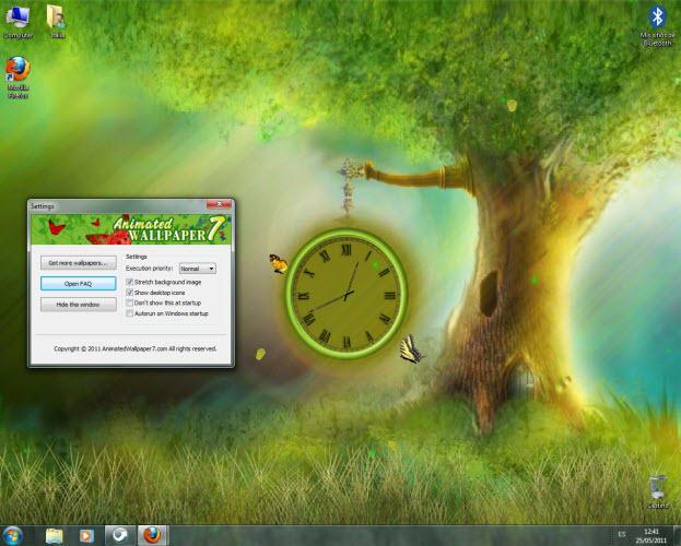 Fantasy Clock Animated Wallpaper