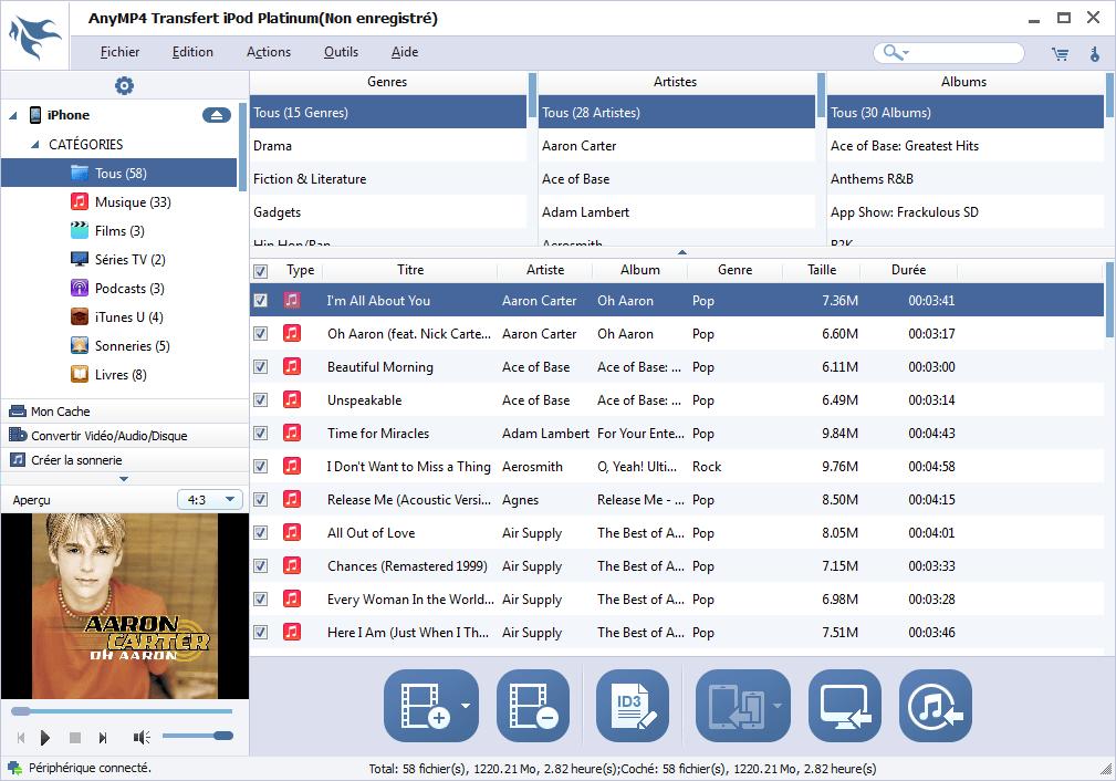 AnyMP4 Transfert iPod Platinum