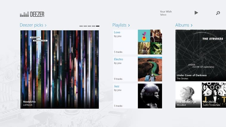 Deezer pour Windows 10