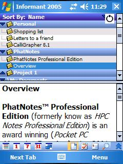 Pocket Informant/PhatNotes Professional Bundle