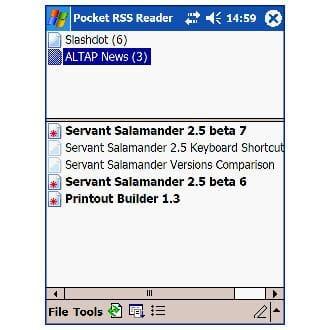 Pocket RSS Reader
