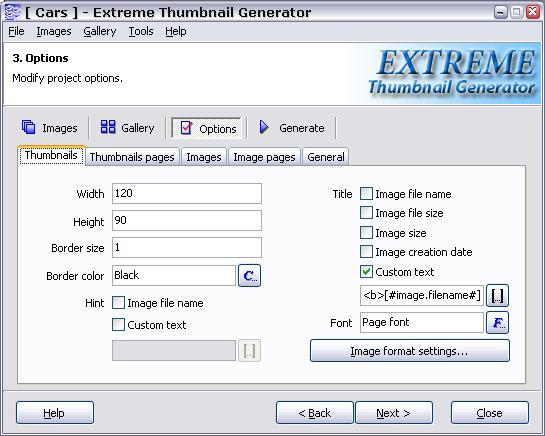 Extreme Thumbnail Generator