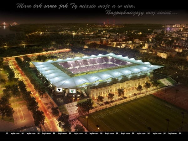 Tapeta Nowy Stadion Legii