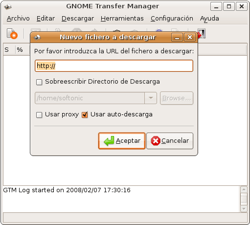 GNOME Transfer Manager