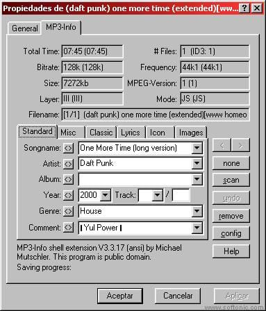 MP3-Info Extension