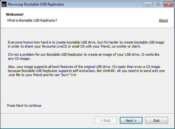 Bootable USB Replicator