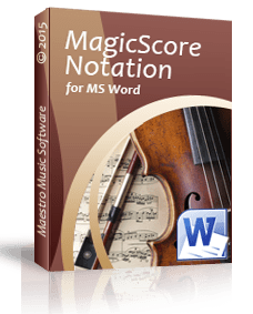 MagicScore Notation For MS Word 8.002