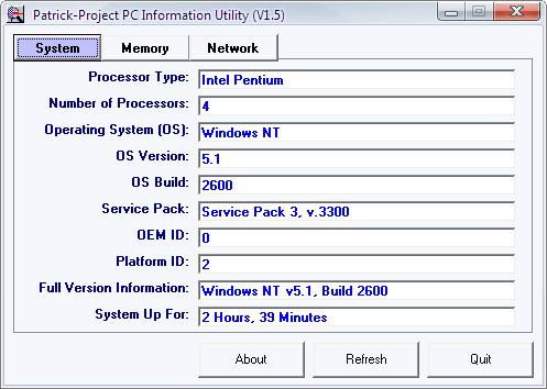 PP PC Info