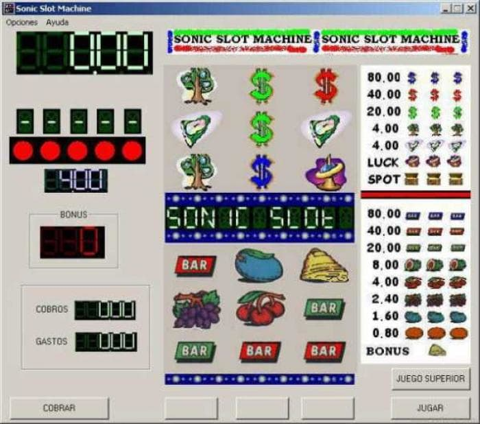 Sonic Slot Machine