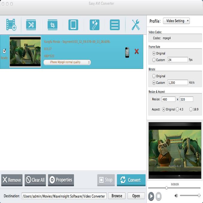 Easy AVI Video Converter for Mac