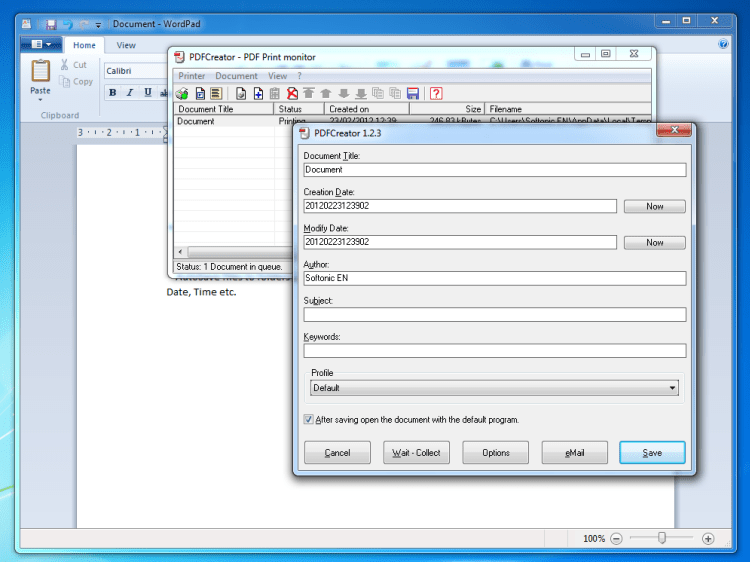 pdf drucker windows 7 freeware