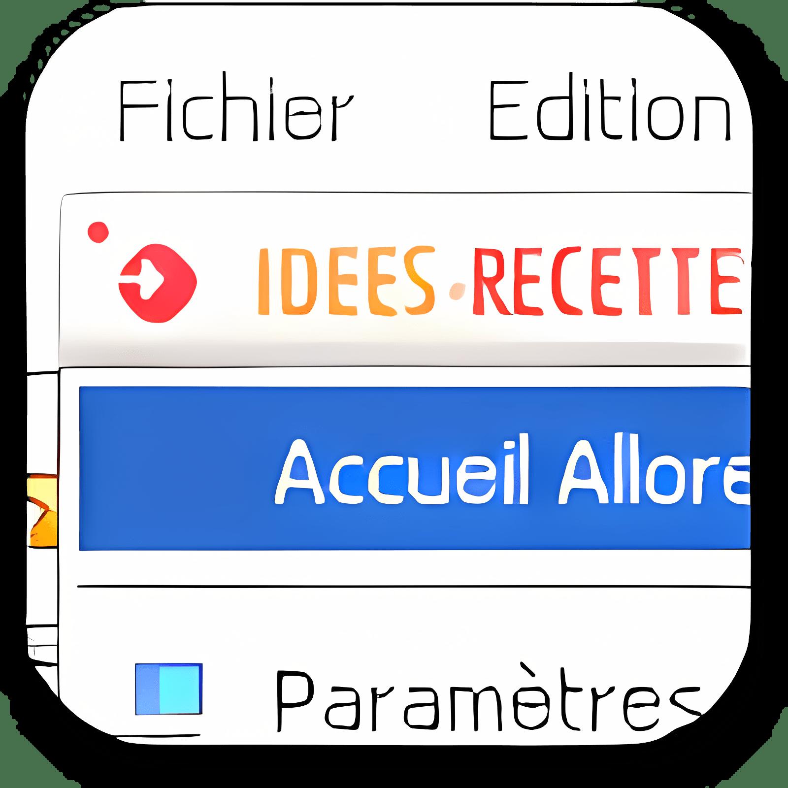 Idées recettes toolbar