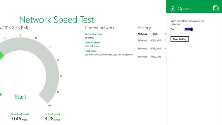 Network Speed Test for Windows 8
