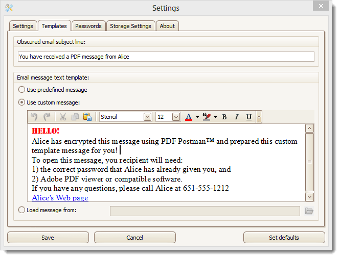 PDF Postman Email Encryption for Outlook 2.0