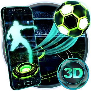 Neon Football Tech 3D Theme 1.1.2
