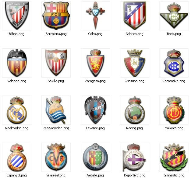 Spanish La Liga Icons