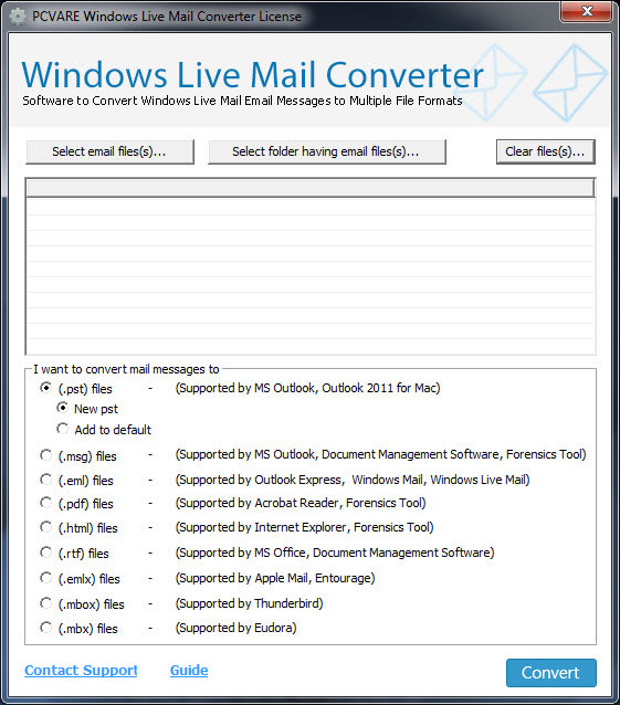 Windows Live Mail Converter