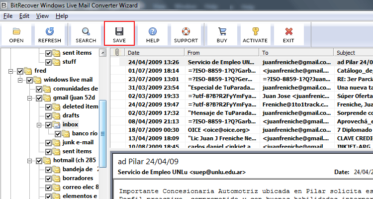 Windows Live Mail Converter Wizard