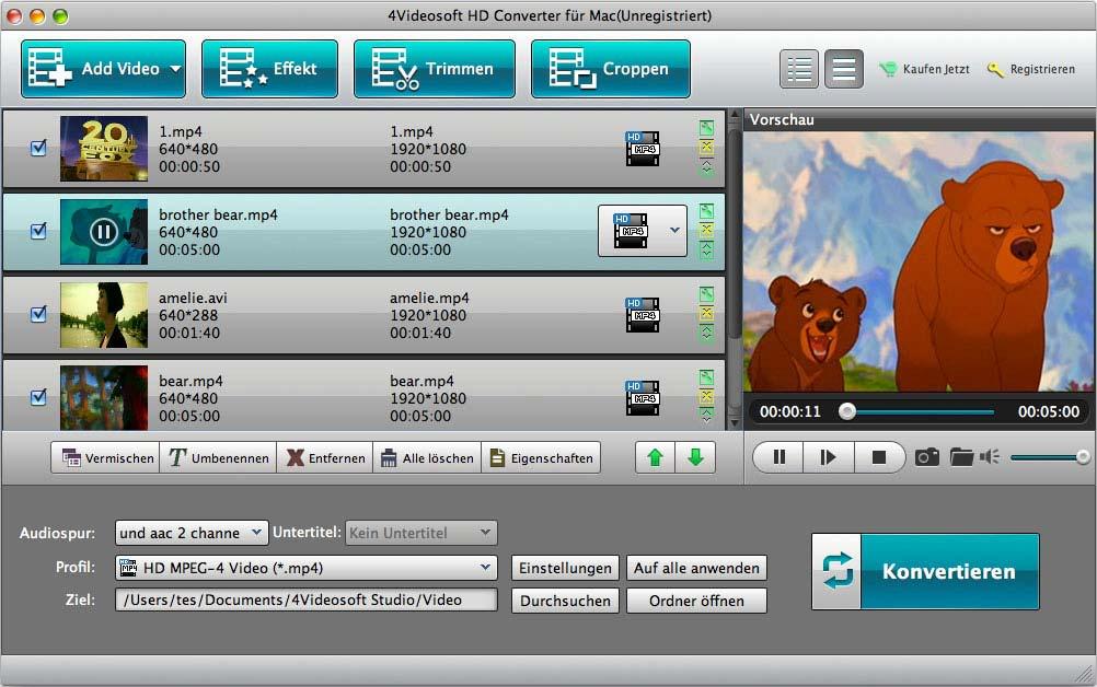 4Videosoft HD Converter für Mac