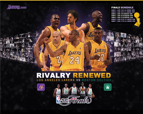 LA Lakers 2010 Playoff Finals Wallpaper