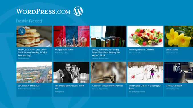 Wordpress.com voor Windows 10