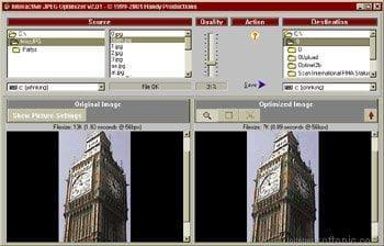 Interactive JPEG Optimizer