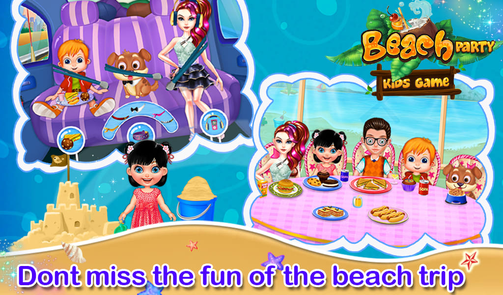 Beach Party Kids Game