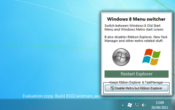 Windows 8 Menu Switcher