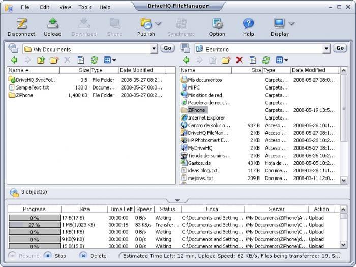 DriveHQ FileManager