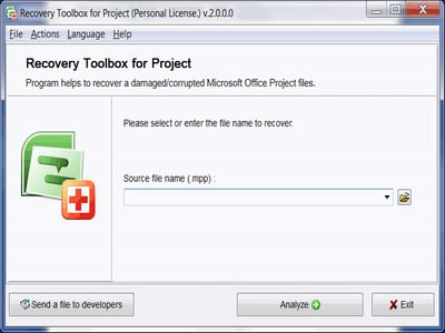 Recovery Toolbox for Project
